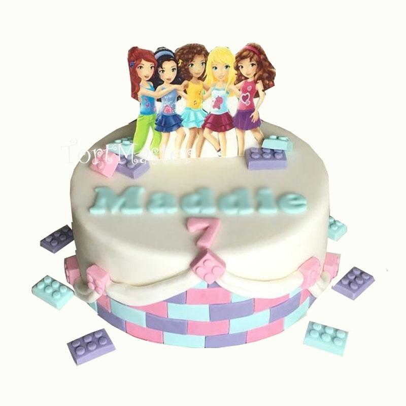 ab1871203 Торт для девочек Лего Френдс на заказ в Москве