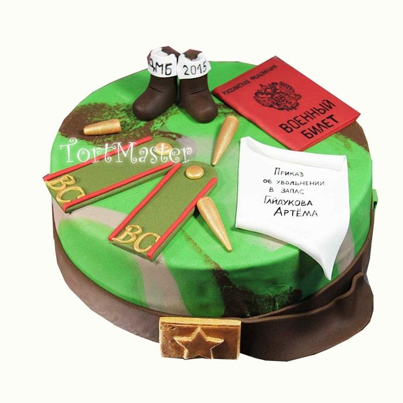 Торт из мастики на дмб фото
